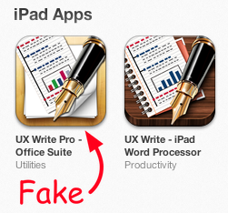 Fake UX Write