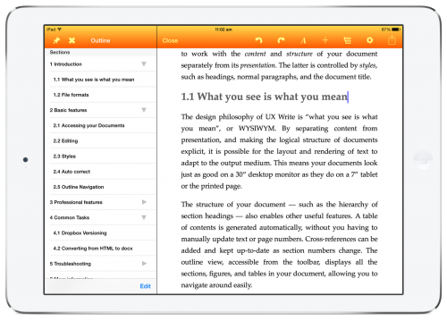 UX Write on iPad